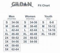Gildan Unisex Size Chart Gildan Unisex Sizing Chart