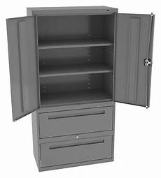 tennsco commercial storage cabinet medium gray 72 quot h x