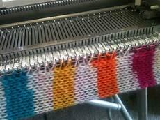 brunswick machine knitting novices swag blanket 1 cast on