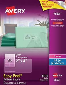 Address Labels Avery Avery 174 Clear Address Labels With Easy Peel 174 Walmart Canada