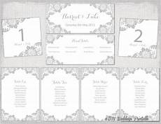 Template For Wedding Table Plan Wedding Seating Chart Template Silver Gray Quot Antique Lace