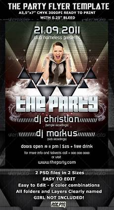 Party Flyer Size Graphicriver The Party Club Flyer Template
