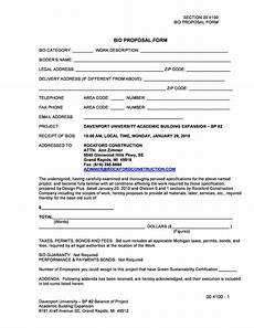 Bidding Proposal Template 31 Construction Proposal Template Amp Construction Bid Forms