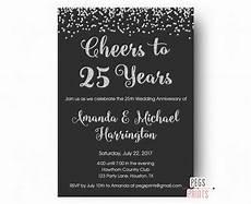 Printable Anniversary Party Invitations 25th Anniversary Invitations Printable 25th Wedding