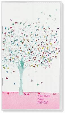 24 Month Planner 2020 21 Tree Of Hearts 2 Year Pocket Planner 24 Month