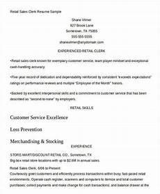 Retail Clerk Resume Sales Resume Template 24 Free Word Pdf Documents