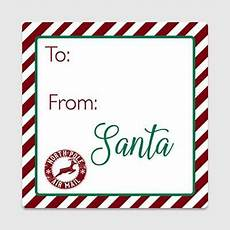 Santa Tag 20 Santa Gift Tag Stickers From Santa Gift Tags Gt29