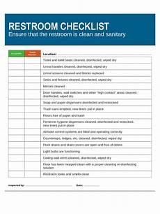 Bathroom Cleaning Checklist Template Toilet Checklist Template 2 Free Templates In Pdf Word