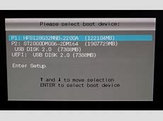 Re install Windows from USB stick   UEFI option on boot menu