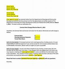 Rent Increase Letter To Tenant Sample Free 8 Sample Rent Increase Letter Templates In Pdf Ms Word