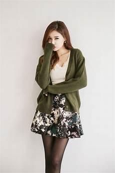v neck knit button cardigan korean fashion style