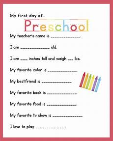 First Day Of Preschool Template 29 Images Of Survey Preschool About Questions Blank Math