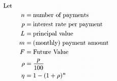 Amortization Math Formula Loan Amortization