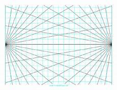 Perspective Graph Paper Printable Perspective Grid 2 Point Landscape
