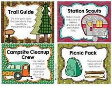 Camping Jobs Camping Themed Classroom Jobs By Kristin Conklin Tpt