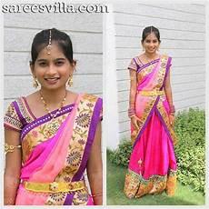 Children Saree Design Designer Half Sarees For Kids Sarees Villa