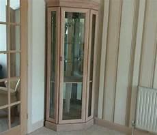 Light Oak Corner Display Cabinet Light Limed Oak Veneer Amp Glass Corner Display Cabinet