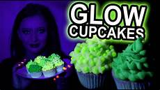 Edible Black Light Frosting How To Make Green Glow In The Dark Cupcakes Uv Reactive