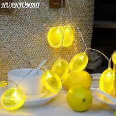 Lemon Best Lights Huanjunshi 2m 20 Led Novelty Lemon And Banana Shape String