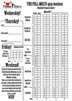 Workout Sheet For Gym Multi Gym Exercises Google Search Workout Sheets Gym