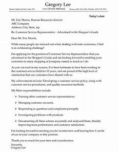 Cover Letters For Customer Service Customer Service Cover Letter Sample
