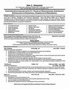 Resume Of Electrical Technician Electrician Resume Samples Sample Resumes