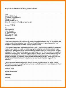 Cover Letter For Resignation 7 Cover Letter Examples For Radiologic Technologist