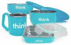 Thinkbaby The Complete Bpa Free Feeding Set Light Blue Thinkbaby The Complete Bpa Free Feeding Set In Light