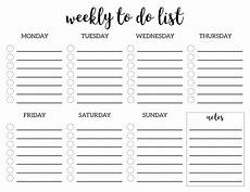 To Do List Printable Checklist Weekly To Do List Printable Checklist Template Paper