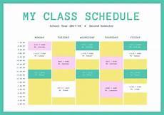 College Class Schedule Maker Template Free Online Class Schedules Design A Custom Class