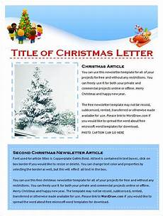 Christmas Family Newsletter Templates Free 29 Microsoft Newsletter Templates Doc Pdf Psd Ai