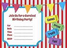 Carnival Theme Party Invitations Templates Free Carnival Themed Printable Invitation