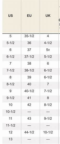 Us Women S Size Chart To Uk Uk Us Euro Womens Shoe Sizing Conversion Chart Lovely