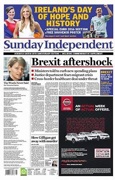 Parts Of A Newspaper Sunday S Newspaper Front Pages Buzz Ie