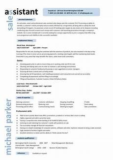 Job Description For A Shop Assistant Sales Assistant Cv Example Shop Store Resume Retail