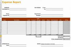 Expanse Report 4 Expense Report Templates Excel Pdf Formats