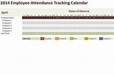 Tracking Calendar Template 2014 Employee Attendance Tracking Calendar