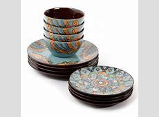Gibson Studio Moroccan Floral 12 Piece Dinnerware Set