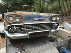 1958 Impala Color Chart 1958 Chevy Impala Convertible 348 Tri Power Classic