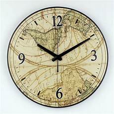Fashionable Large Wall Clock Home Office by World Map Large Decorative Wall Clock Modern Design