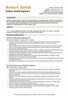 Quality Engineer Sample Resume Software Quality Engineer Resume Samples Qwikresume