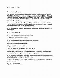 Sample Cease And Desist Letter 30 Cease And Desist Letter Templates Free ᐅ Templatelab