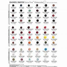 Daniel Smith Watercolor Color Chart Daniel Smith Extra Fine Watercolor Dot Chart 66 Colors