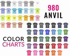 Anvil 980 Color Chart Anvil 980 Color Chart Mockup Anvil Mockup Every Color Etsy