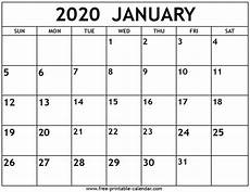 January 2020 Calendar Download 2020 Calendar Printable Free Letter Templates