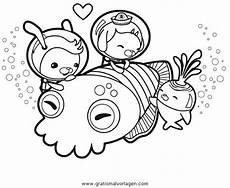 oktonauten 2 gratis malvorlage in comic trickfilmfiguren