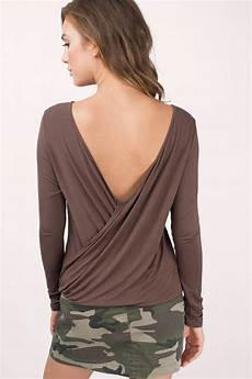 mocha blouse trendy mocha blouse brown blouse v back blouse mocha