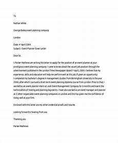 Event Planner Cover Letters Sample Cover Letter Template 19 Free Documents Download