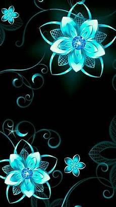 neon floral iphone wallpaper blue neon flowers fondo de pantalla colorido fondo de
