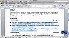 How To Do A Resume On Word How To Create A Resume Using Microsoft Word Youtube